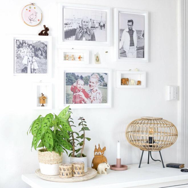 Fotoleinwand und DIY mini rahme