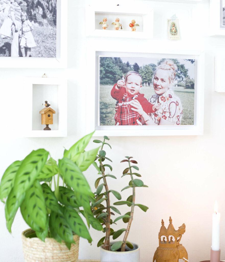 Fotos auf Leinwand drucken und mini diy rahmen