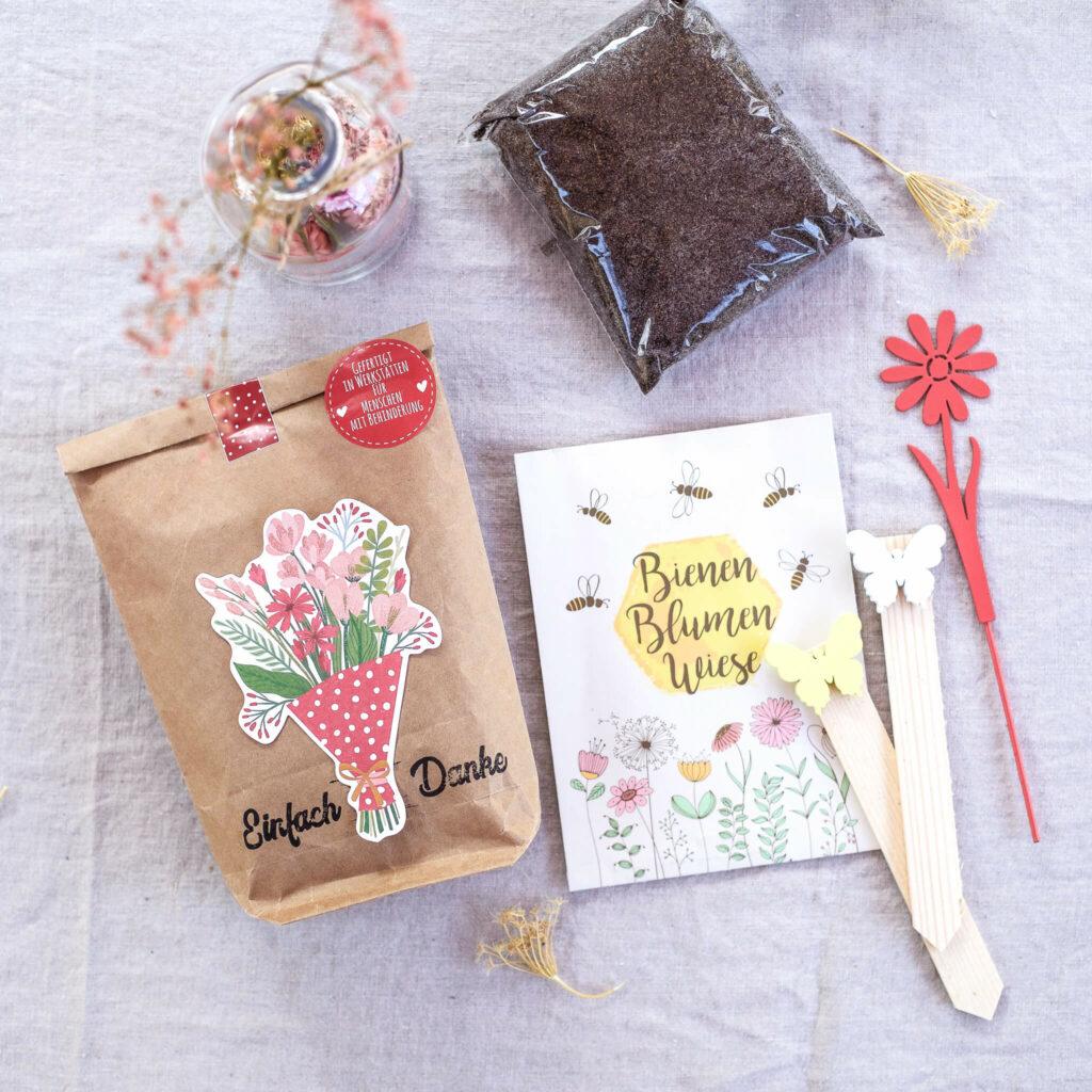 Geschenkidee Blumensamen in der Tüte
