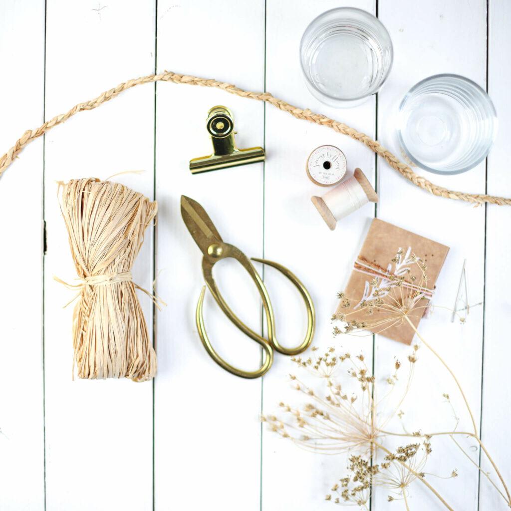 Material für Windlichter in Boho Style