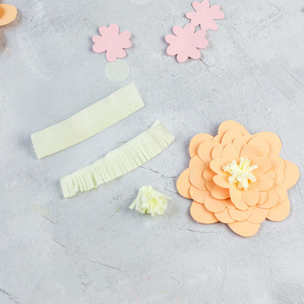 Blütenmitte für Papierblumen