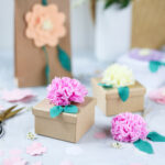 Verpackungsideen mit papierblumen