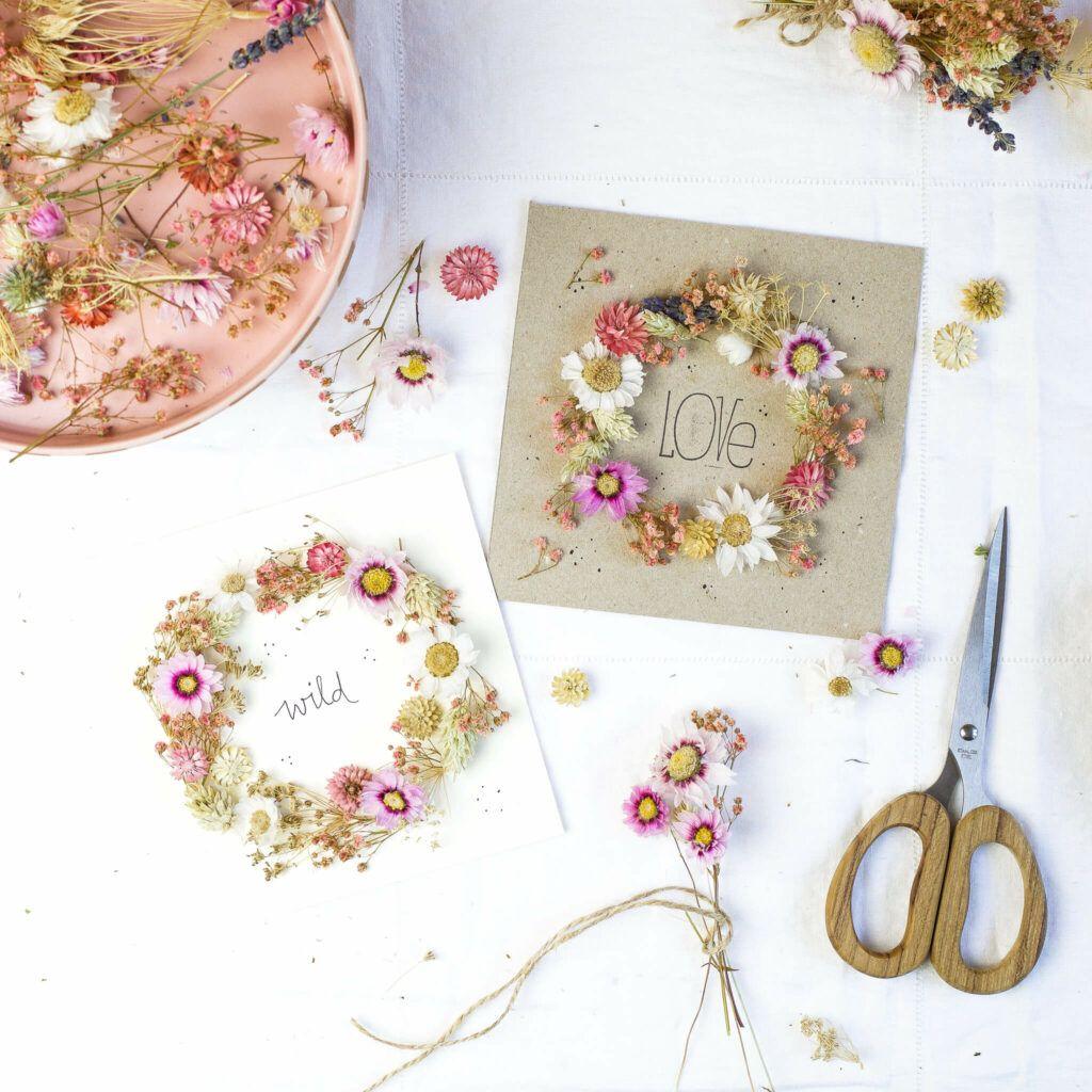 Blumenkranz aus Trockenblumen