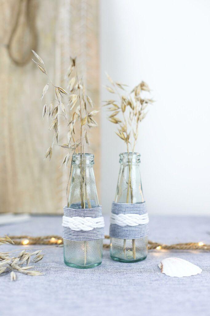 Deko mit Stoff für Vasen