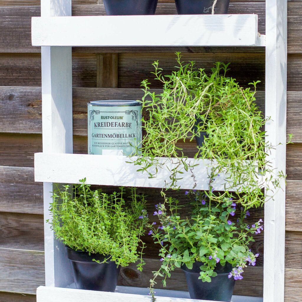 Kräuterregal für Terrasse oder Balkon selber mache